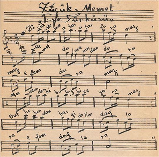 Küçük Memet Atar Furamaz Türküsünün Notası