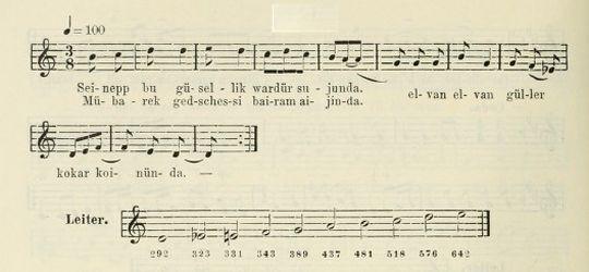 Zeynebim Türküsünün (3.Varyant) Notası